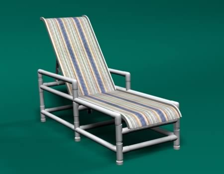 PVC Sling Chaise