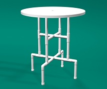PVC 42inch bar table